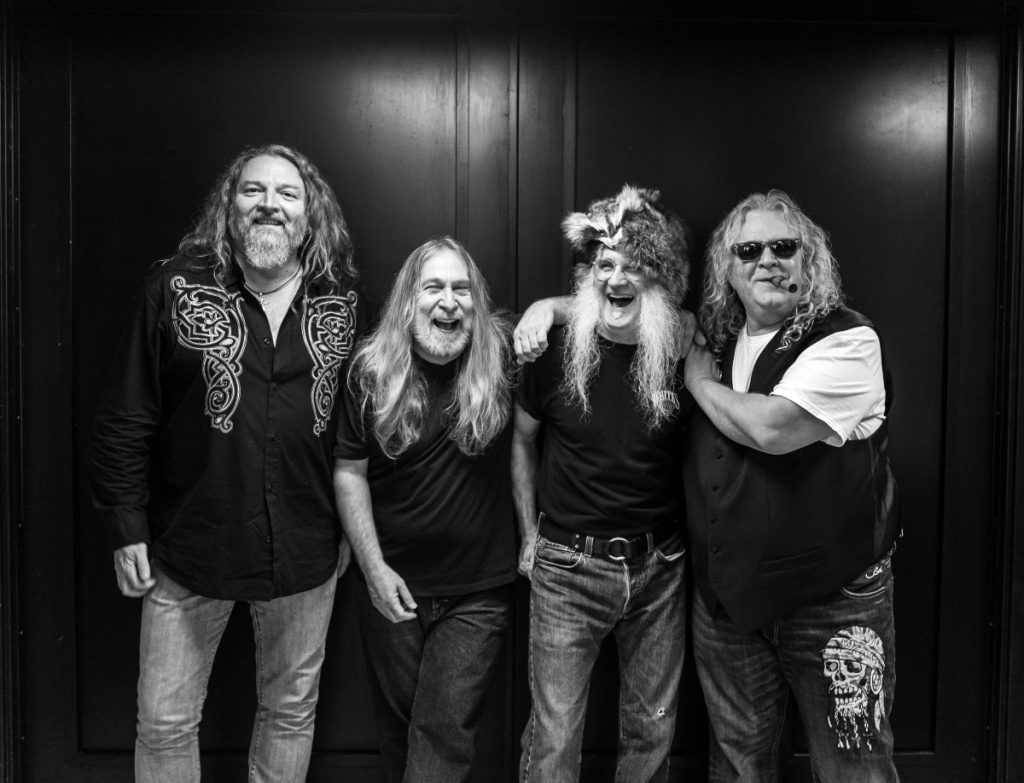THE KENTUCKY HEADHUNTERS include, from left to right, Doug Phelps, Greg Martin, Fred Young, and Richard Young.  Kentucky Headhunters photo.