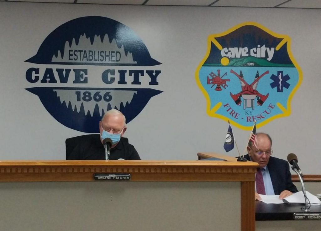 Pictured left to right, Mayor Dwayne Hatcher and City Attorney Bobby Richardson