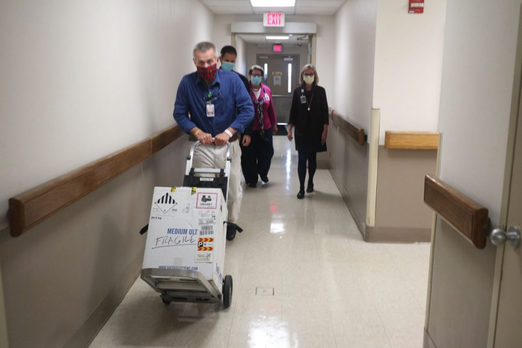 Vaccines have arrived at The Medical Center at Bowling Green this morning. Photo courtesy of The Medical Center.